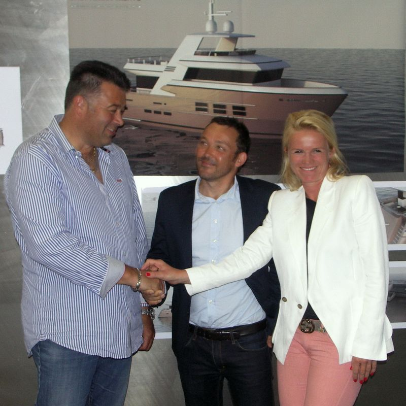 Drettmann Yachts - Drettmann's new 24 m Explorer Yacht keel laying at Acico