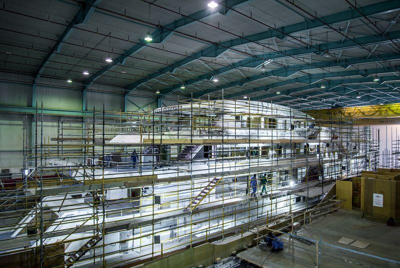 Drettmann Yachts - Drettmann gibt bekannt - Megayacht Majesty 175 - Erstwasserung Ende 2019